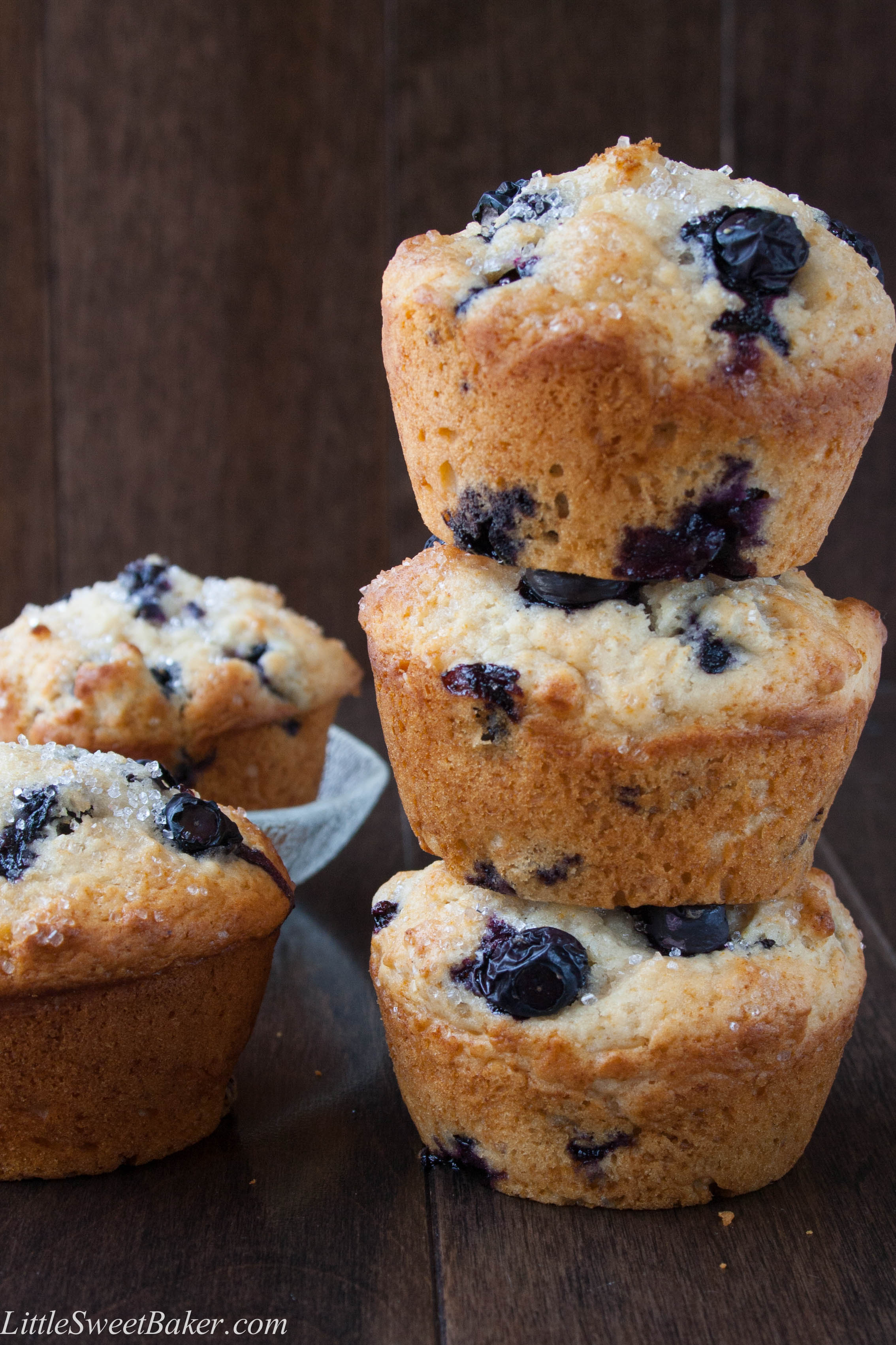BLUEBERRY BUTTERMILK MUFFINS. A soft and moist muffin full of juicy ...