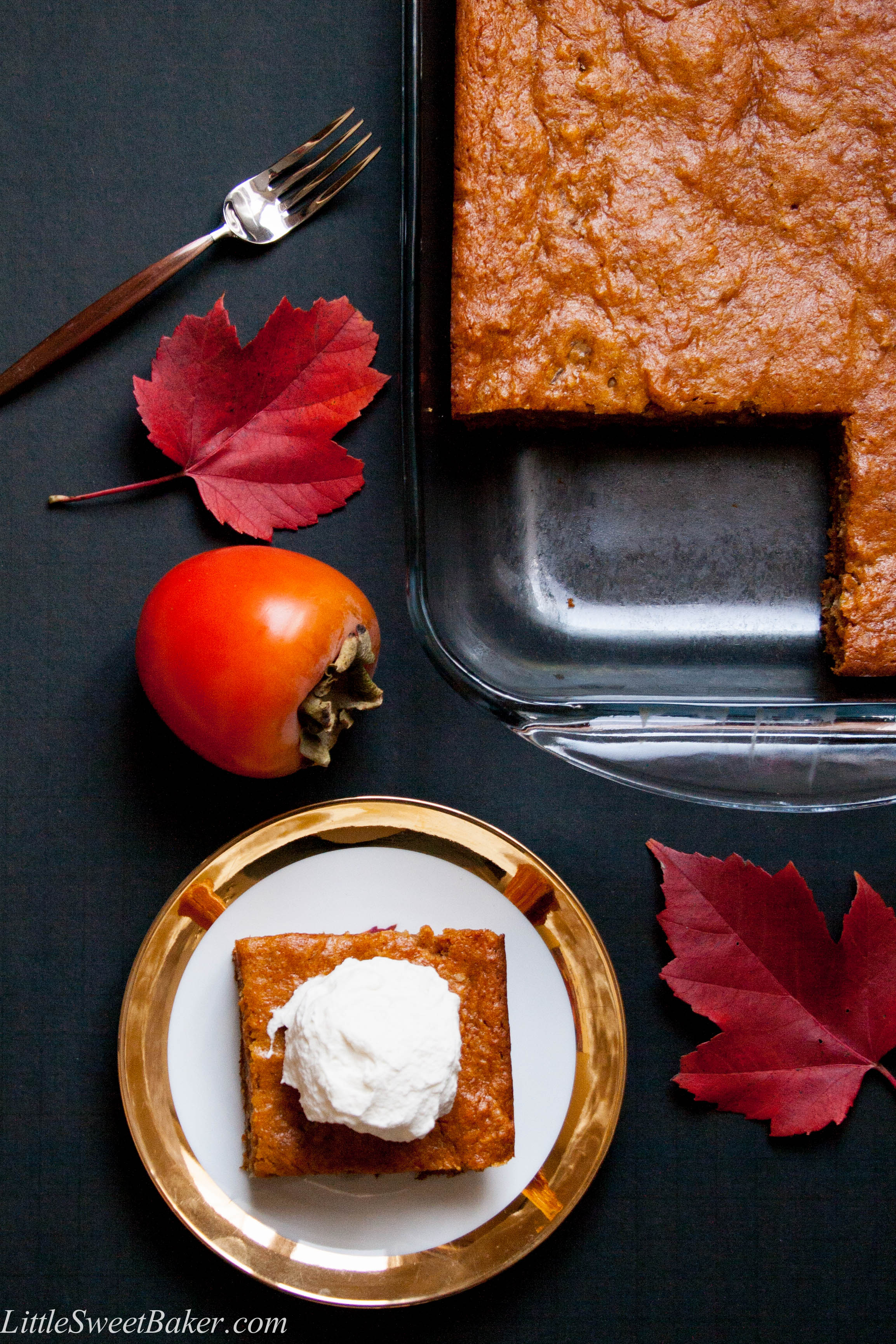 PERSIMMON PUDDING CAKE. A moist and chewy spiced pudding cake made ...
