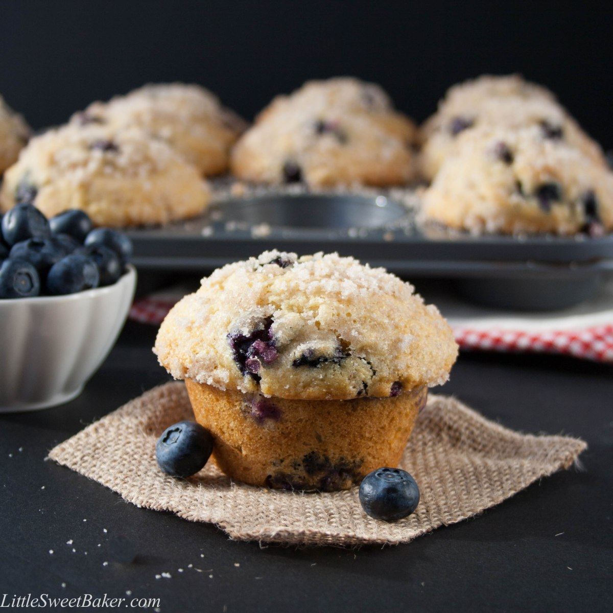 Bakery Style Blueberry Streusel Muffins
